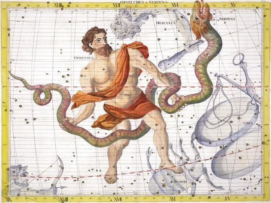 Constellation of Ophiucus, 1729-Unknown-Giclee Print