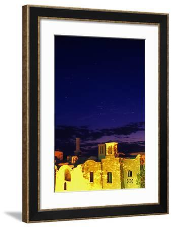 Constellation Orion over the Ancient Town of Kharanaq-Babak Tafreshi-Framed Photographic Print