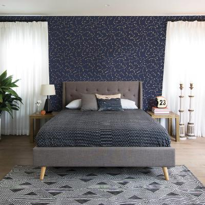 Constellations Navy Self-Adhesive Wallpaper--Home Accessories