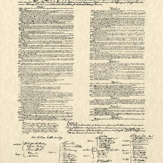 Constitution Document--Art Print