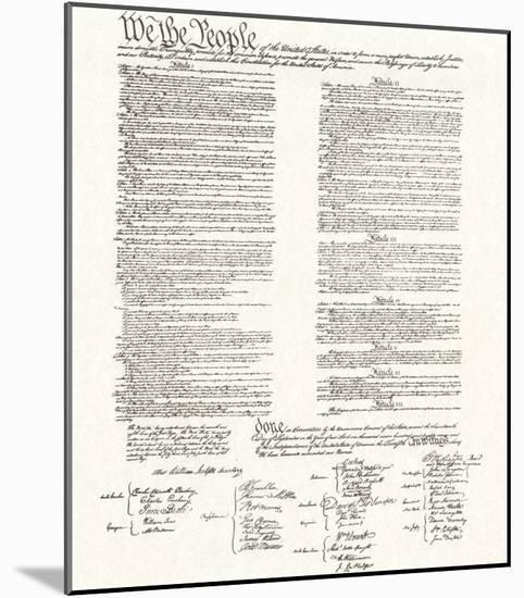 Constitution--Mounted Print