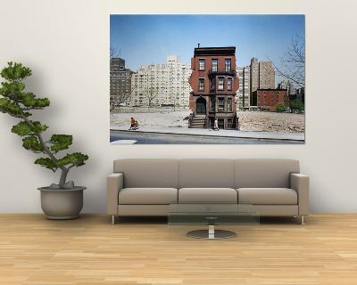 Construction in NYC: Land Being Cleared For 20 Story Building in East 60s-Dmitri Kessel-Giant Art Print