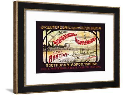 Construction of Aeroplanes--Framed Art Print