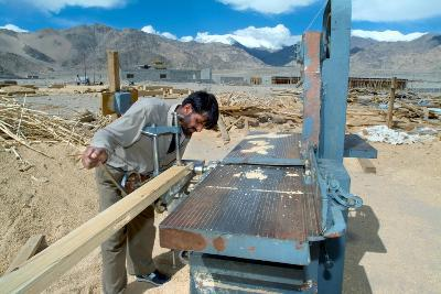 Construction of an Energy Efficient Building, Druk White Lotus School, Shey, Ladakh, India--Photographic Print