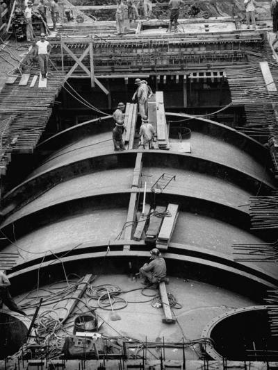 Construction of Atomic Plant-Yale Joel-Photographic Print