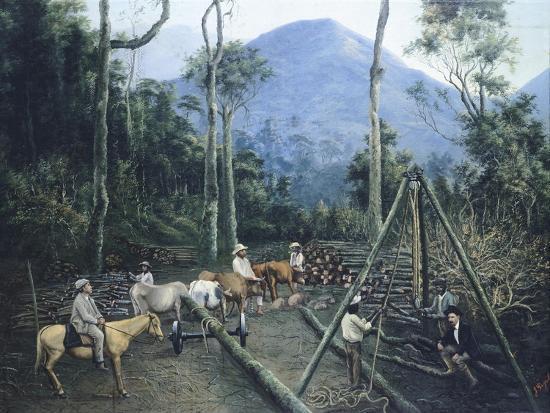 Construction of Chiguacan Railway, 1907-Guercino-Giclee Print