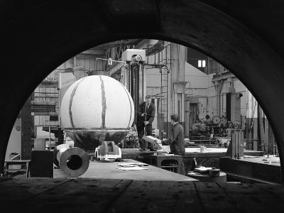 Construction of Deep Sea Inspection Chambers, Markham and Co, Chesterfield, Derbyshire, 1966-Michael Walters-Photographic Print