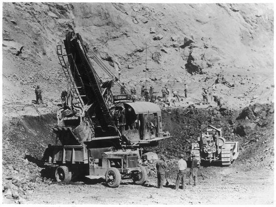 Construction of Hoover Dam--Photographic Print