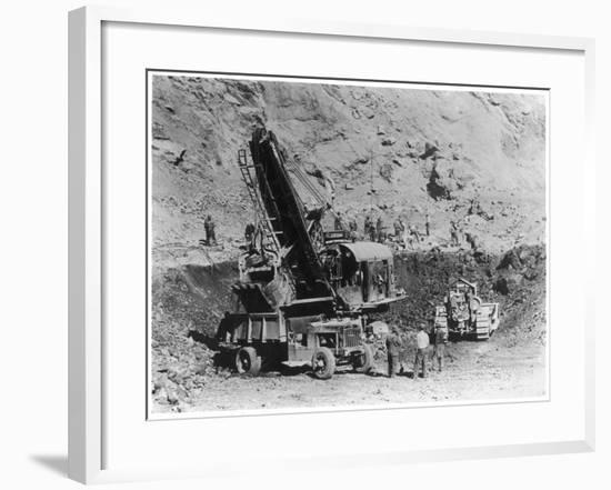 Construction of Hoover Dam--Framed Photographic Print