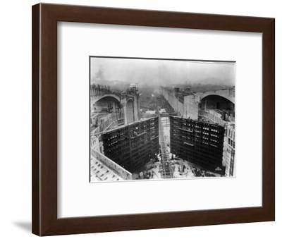Construction of Panama Canal Locks--Framed Photographic Print