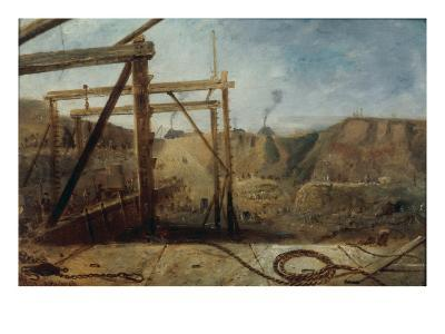 Construction of Seaham Harbour, 1830-Robert Mackreth-Giclee Print