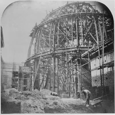 Construction of the British Museum Reading Room, 1854-57 (B/W Photo)-English Photographer-Giclee Print