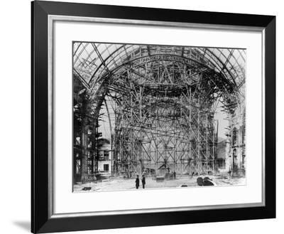 Construction of the Grand Palais, Paris, 1898-9--Framed Photographic Print