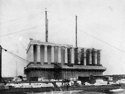 Construction of the Lincoln Memorial--Photographic Print