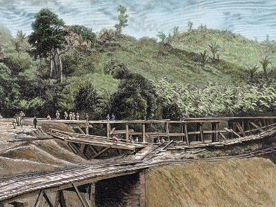 Construction of the Panama Canal. Works in Bridge Called 'Alto-Obispo'-Prisma Archivo-Photographic Print