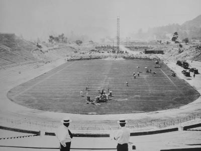 Construction of the Rose Bowl Stadium, Pasadena, Los Angeles County, California--Photo
