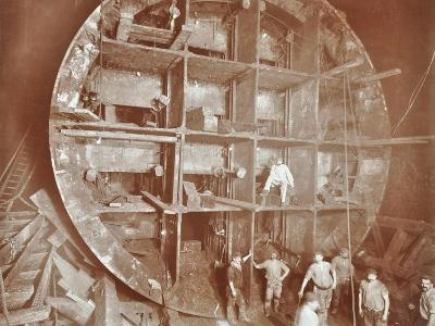 Construction of the Rotherhithe Tunnel, Bermondsey, London, November 1906--Photographic Print