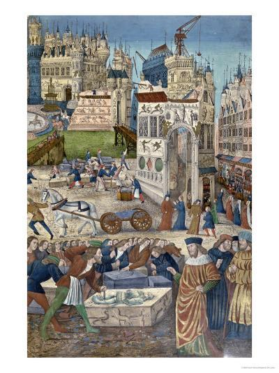 Construction of the Temple of Solomon at Jerusalem--Giclee Print