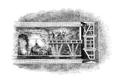 Construction of the Thames Tunnel, London, 1825-1843--Giclee Print