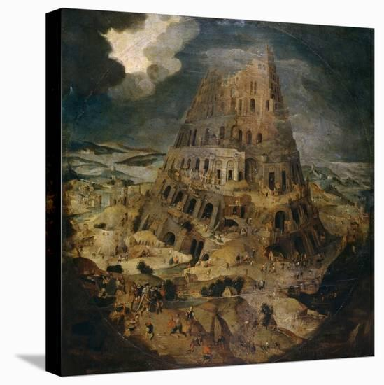 Construction of the Tower of Babel, Ca. 1595, Flemish School-Pieter Brueghel the Younger-Stretched Canvas Print