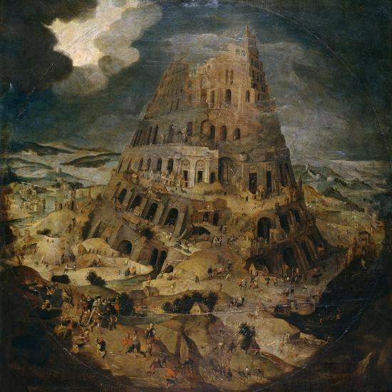 Construction of the Tower of Babel, Ca. 1595, Flemish School-Pieter Brueghel the Younger-Giclee Print