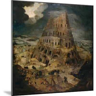 Construction of the Tower of Babel, Ca. 1595, Flemish School-Pieter Brueghel the Younger-Mounted Giclee Print