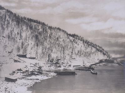 Construction of the Transiberian Railway Around Lake Baikal--Photographic Print