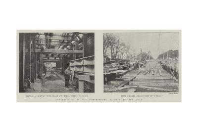 Construction of the Underground Railway in New York--Giclee Print