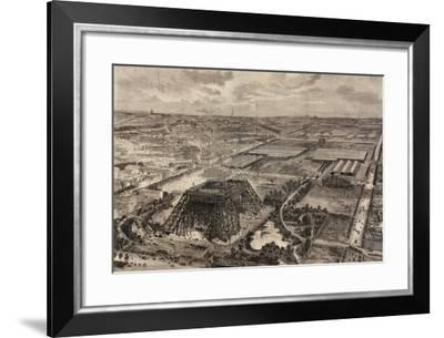 Construction Work on the Eiffel Tower, April 8, 1888--Framed Giclee Print