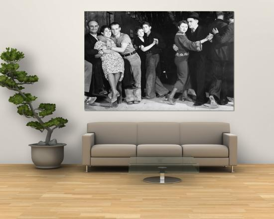 Construction Workers And Taxi Dancers Enjoying A Night Out In Barroom Frontier Town Wall Mural By Margaret Bourke White Art