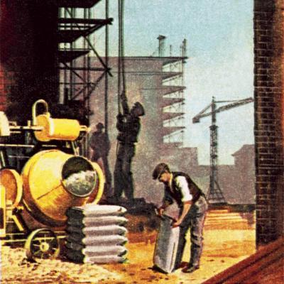 Construction-English School-Giclee Print