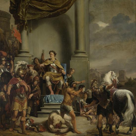 Consul Titus Manlius Torquatus Orders the Beheading of His Son-Ferdinand Bol-Art Print