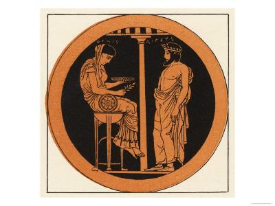 Consulting an Oracle in Ancient Greece--Giclee Print