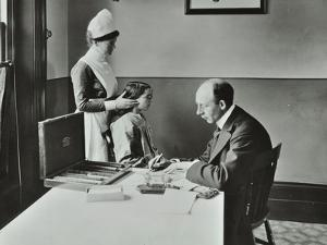 Consulting Room, Norwood School Treatment Centre, London, 1911