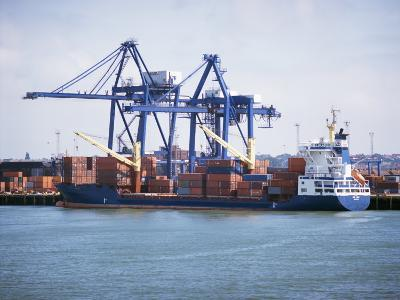 Container Port, Felixstowe, Suffolk, England, United Kingdom-G Richardson-Photographic Print
