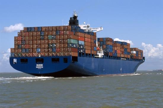 Container Ship At Sea-Dirk Wiersma-Photographic Print