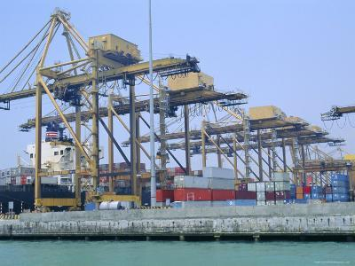 Containers on the Docks, Singapore Harbour, Singapore-Fraser Hall-Photographic Print