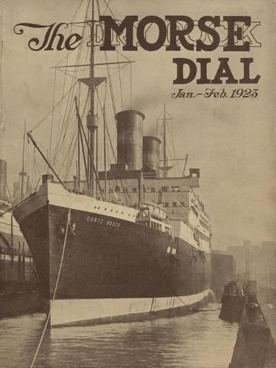 Conte Rosso, Front Cover of the 'Morse Dry Dock Dial', January-February 1923--Giclee Print
