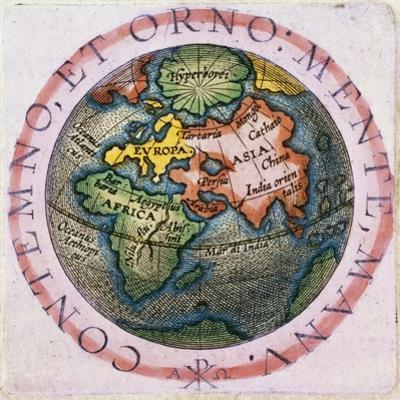 Contemno, Et Orno: Mente, Manu, World Map, C.1540