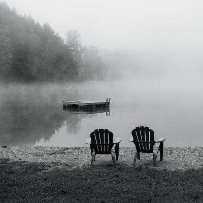 Contemplating the Morning Mist Crop-Carla Kimball-Photo