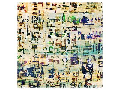 Contemporary Collage Newspaper--Art Print