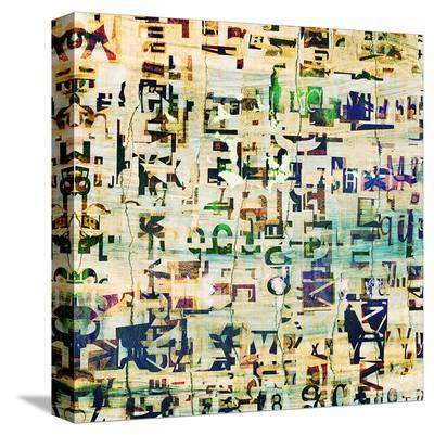 Contemporary Collage Newspaper--Stretched Canvas Print