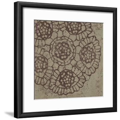 Contemporary Lace V Spice-Moira Hershey-Framed Art Print