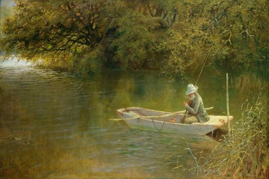 Contentment, a Corner of a Norfolk Broad-George Parsons Norman-Giclee Print