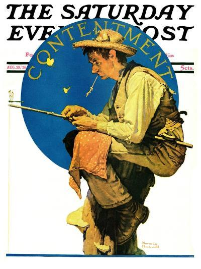 """""""Contentment"""" Saturday Evening Post Cover, August 28,1926-Norman Rockwell-Giclee Print"""