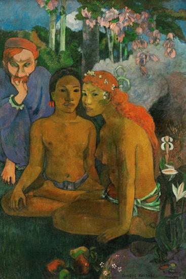 Contes barbares-Paul Gauguin-Art Print