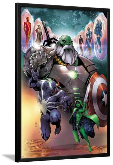 Contest of Champions #1 Cover with Maestro, Venom, Gamora, Iron Man, Thor (Female) & More-Paco Medina-Lamina Framed Poster