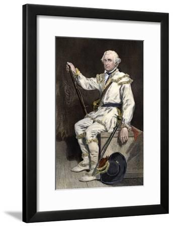 Continental Army General Daniel Morgan During the Revolutionary War--Framed Giclee Print