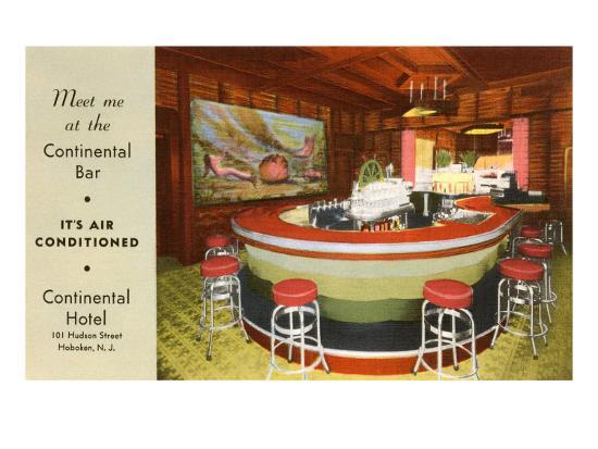 Continental Bar, Hoboken, New Jersey--Art Print