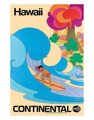 Continental Hawaii Surfer c.1960's--Giclee Print